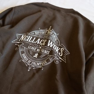 NEILLAGE WORKS ニーレイジ ワークス LEAVE NO TRACE SWEAT<OLIVE><img class='new_mark_img2' src='//img.shop-pro.jp/img/new/icons14.gif' style='border:none;display:inline;margin:0px;padding:0px;width:auto;' />