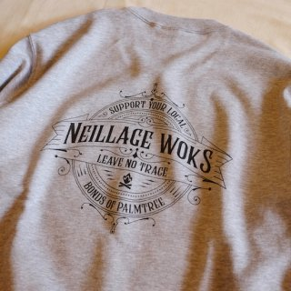 NEILLAGE WORKS ニーレイジ ワークス LEAVE NO TRACE SWEAT<MIX GRAY><img class='new_mark_img2' src='https://img.shop-pro.jp/img/new/icons14.gif' style='border:none;display:inline;margin:0px;padding:0px;width:auto;' />