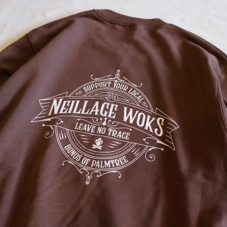 NEILLAGE WORKS ニーレイジ ワークス LEAVE NO TRACE SWEAT<D.BROWN><img class='new_mark_img2' src='https://img.shop-pro.jp/img/new/icons14.gif' style='border:none;display:inline;margin:0px;padding:0px;width:auto;' />
