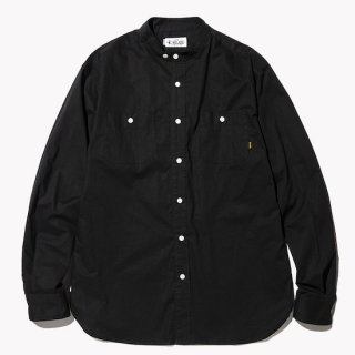 CALEE キャリー  Band collar L/S broad shirt<Black><img class='new_mark_img2' src='https://img.shop-pro.jp/img/new/icons14.gif' style='border:none;display:inline;margin:0px;padding:0px;width:auto;' />