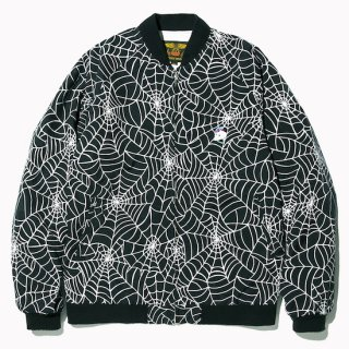 CALEE キャリー  Allover spiderweb pattern lib jacket<Black><img class='new_mark_img2' src='https://img.shop-pro.jp/img/new/icons14.gif' style='border:none;display:inline;margin:0px;padding:0px;width:auto;' />