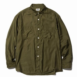 CALEE キャリー  L/S Plane work shirt<Olive><img class='new_mark_img2' src='https://img.shop-pro.jp/img/new/icons14.gif' style='border:none;display:inline;margin:0px;padding:0px;width:auto;' />