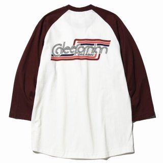CALEE キャリー  3/4 Sleeve raglan t-shirt<Burgundy><img class='new_mark_img2' src='https://img.shop-pro.jp/img/new/icons14.gif' style='border:none;display:inline;margin:0px;padding:0px;width:auto;' />