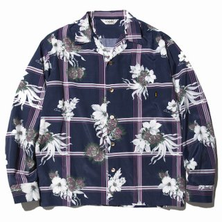CALEE キャリー  Flower check mix pattern L/S shirt<Navy><img class='new_mark_img2' src='//img.shop-pro.jp/img/new/icons14.gif' style='border:none;display:inline;margin:0px;padding:0px;width:auto;' />