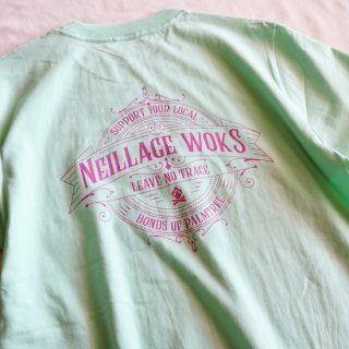 NEILLAGE WORKS ニーレイジ ワークス LEAVE NO TRACE TEE<TURQOUISE>