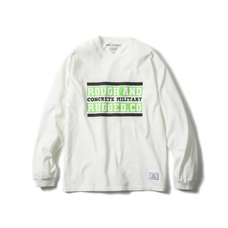 ROUGH AND RUGGED ラフアンドラゲッド DESIGN LS-BAR LOGO<WHITE><img class='new_mark_img2' src='https://img.shop-pro.jp/img/new/icons14.gif' style='border:none;display:inline;margin:0px;padding:0px;width:auto;' />