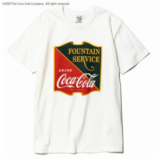 CALEE キャリー COCA-COLA collaboration emblem t-shirt<White><img class='new_mark_img2' src='//img.shop-pro.jp/img/new/icons14.gif' style='border:none;display:inline;margin:0px;padding:0px;width:auto;' />