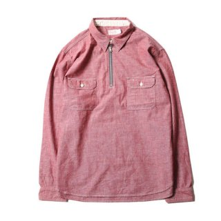 TROPHY CLOTHING トロフィークロージング HARVEST HALF ZIP SHIRT<RED><img class='new_mark_img2' src='https://img.shop-pro.jp/img/new/icons14.gif' style='border:none;display:inline;margin:0px;padding:0px;width:auto;' />