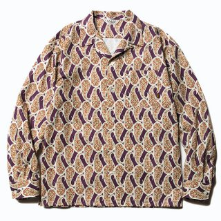 CALEE キャリー Allover paisley pattern L/S shirt<Burgundy><img class='new_mark_img2' src='https://img.shop-pro.jp/img/new/icons14.gif' style='border:none;display:inline;margin:0px;padding:0px;width:auto;' />