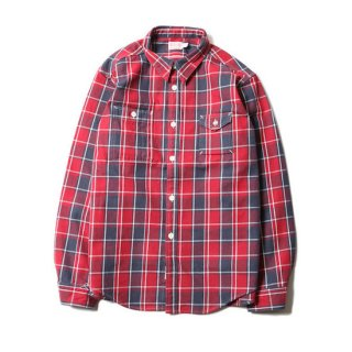 TROPHY CLOTHING トロフィークロージング MACHINE AGE CHECK SHIRT<RED><img class='new_mark_img2' src='//img.shop-pro.jp/img/new/icons14.gif' style='border:none;display:inline;margin:0px;padding:0px;width:auto;' />