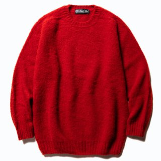 CALEE キャリー ×Ce forsyth Shaggy wool knit <Red><img class='new_mark_img2' src='https://img.shop-pro.jp/img/new/icons14.gif' style='border:none;display:inline;margin:0px;padding:0px;width:auto;' />