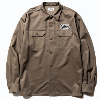 CALEE キャリー Cotton twill L/S wappen work shirt<Gray><img class='new_mark_img2' src='https://img.shop-pro.jp/img/new/icons14.gif' style='border:none;display:inline;margin:0px;padding:0px;width:auto;' />