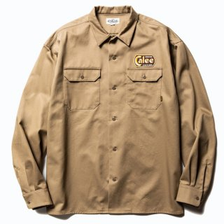 CALEE キャリー Cotton twill L/S wappen work shirt<Beige><img class='new_mark_img2' src='https://img.shop-pro.jp/img/new/icons14.gif' style='border:none;display:inline;margin:0px;padding:0px;width:auto;' />