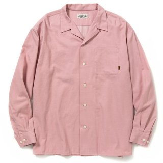 CALEE キャリー 6oz color denim L/S embroidery shirt<Pink>