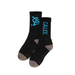 CALEE キャリー Multi logo socks<Black><img class='new_mark_img2' src='https://img.shop-pro.jp/img/new/icons14.gif' style='border:none;display:inline;margin:0px;padding:0px;width:auto;' />