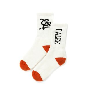 CALEE キャリー Multi logo socks<White><img class='new_mark_img2' src='https://img.shop-pro.jp/img/new/icons14.gif' style='border:none;display:inline;margin:0px;padding:0px;width:auto;' />