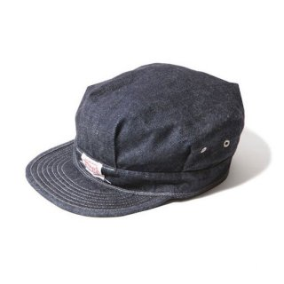 TROPHY CLOTHING トロフィークロージング UNION RAIL ROADER CAP<INDIGO><img class='new_mark_img2' src='https://img.shop-pro.jp/img/new/icons14.gif' style='border:none;display:inline;margin:0px;padding:0px;width:auto;' />