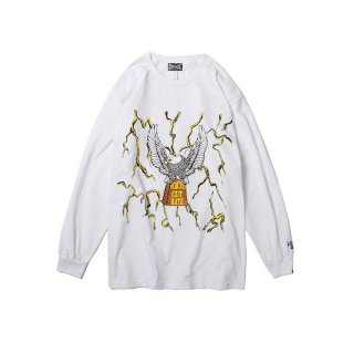 CUTRATE カットレイト THUNDER&EAGLE L/S T-SHIRT<WHITE><img class='new_mark_img2' src='https://img.shop-pro.jp/img/new/icons14.gif' style='border:none;display:inline;margin:0px;padding:0px;width:auto;' />