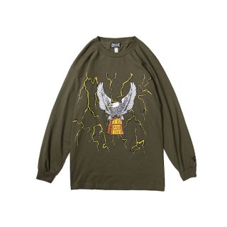CUTRATE カットレイト THUNDER&EAGLE L/S T-SHIRT<OLIVE><img class='new_mark_img2' src='https://img.shop-pro.jp/img/new/icons14.gif' style='border:none;display:inline;margin:0px;padding:0px;width:auto;' />