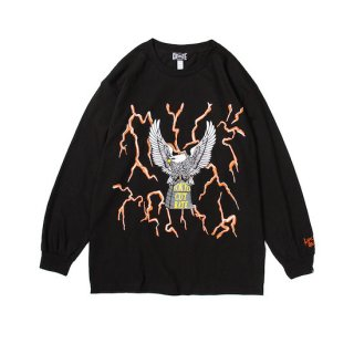 CUTRATE カットレイト THUNDER&EAGLE L/S T-SHIRT<BLACK/ORANGE><img class='new_mark_img2' src='https://img.shop-pro.jp/img/new/icons14.gif' style='border:none;display:inline;margin:0px;padding:0px;width:auto;' />