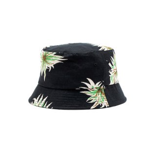 CALEE キャリー Allover flower pattern linen bucket hat<Black><img class='new_mark_img2' src='https://img.shop-pro.jp/img/new/icons14.gif' style='border:none;display:inline;margin:0px;padding:0px;width:auto;' />
