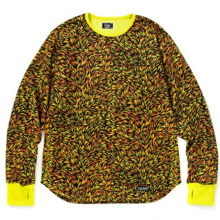 CALEE キャリー Allover pattern L/S cutsew<Yellow>