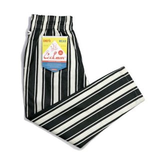 COOKMAN クックマン シェフパンツ Chef Pants Awning Stripe Black<img class='new_mark_img2' src='https://img.shop-pro.jp/img/new/icons14.gif' style='border:none;display:inline;margin:0px;padding:0px;width:auto;' />