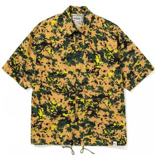 CALEE キャリー C/N Digital camouflage S/S shirt jacket<Camo><img class='new_mark_img2' src='https://img.shop-pro.jp/img/new/icons14.gif' style='border:none;display:inline;margin:0px;padding:0px;width:auto;' />