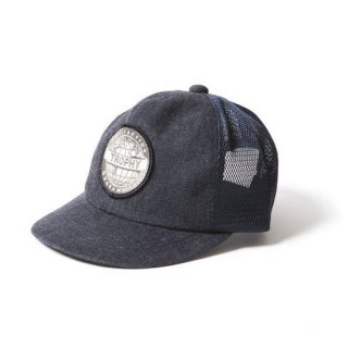TROPHY CLOTHING トロフィークロージング EARTH LOGO WORK MESH CAP<INDIGO><img class='new_mark_img2' src='https://img.shop-pro.jp/img/new/icons14.gif' style='border:none;display:inline;margin:0px;padding:0px;width:auto;' />