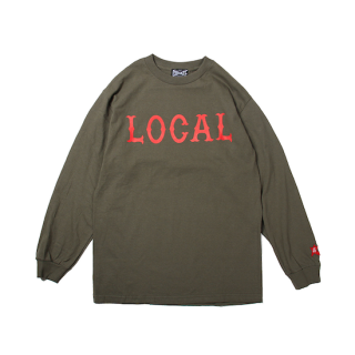 CUTRATE カットレイト LOCAL LOGO L/S TSHIRT<OLIVE><img class='new_mark_img2' src='https://img.shop-pro.jp/img/new/icons14.gif' style='border:none;display:inline;margin:0px;padding:0px;width:auto;' />