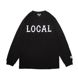 CUTRATE カットレイト LOCAL LOGO L/S TSHIRT<BLACK><img class='new_mark_img2' src='https://img.shop-pro.jp/img/new/icons14.gif' style='border:none;display:inline;margin:0px;padding:0px;width:auto;' />