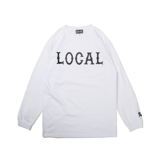 CUTRATE カットレイト LOCAL LOGO L/S TSHIRT<WHITE><img class='new_mark_img2' src='https://img.shop-pro.jp/img/new/icons14.gif' style='border:none;display:inline;margin:0px;padding:0px;width:auto;' />