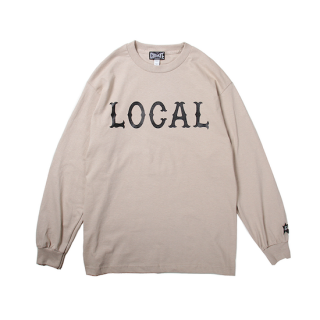 CUTRATE カットレイト LOCAL LOGO L/S TSHIRT<BEIGE><img class='new_mark_img2' src='https://img.shop-pro.jp/img/new/icons14.gif' style='border:none;display:inline;margin:0px;padding:0px;width:auto;' />