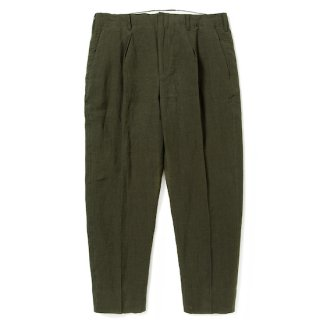 CALEE キャリー Linen cropped slacks<Olive><img class='new_mark_img2' src='https://img.shop-pro.jp/img/new/icons14.gif' style='border:none;display:inline;margin:0px;padding:0px;width:auto;' />