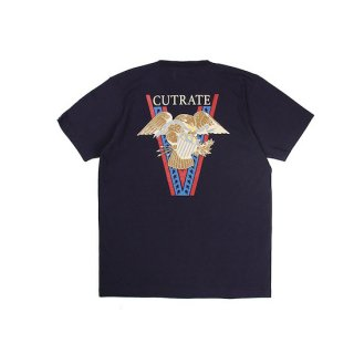 CUTRATE カットレイト HASKEY EAGLE S/S TSHIRT<NAVY><img class='new_mark_img2' src='https://img.shop-pro.jp/img/new/icons14.gif' style='border:none;display:inline;margin:0px;padding:0px;width:auto;' />