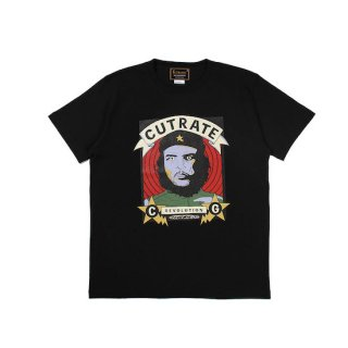 CUTRATE カットレイト HASKEY CHE S/S TSHIRT<BLACK><img class='new_mark_img2' src='https://img.shop-pro.jp/img/new/icons14.gif' style='border:none;display:inline;margin:0px;padding:0px;width:auto;' />