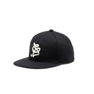 CALEE キャリー Base ball cap<Black>