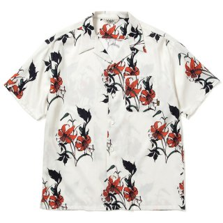 CALEE キャリー Allover flower pattern S/S shirt<White><img class='new_mark_img2' src='https://img.shop-pro.jp/img/new/icons14.gif' style='border:none;display:inline;margin:0px;padding:0px;width:auto;' />