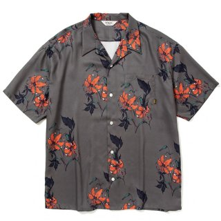 CALEE キャリー Allover flower pattern S/S shirt<Charcoal><img class='new_mark_img2' src='https://img.shop-pro.jp/img/new/icons14.gif' style='border:none;display:inline;margin:0px;padding:0px;width:auto;' />