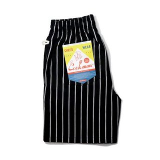 COOKMAN クックマン シェフパンツ Chef Pants Short Stripe Black<img class='new_mark_img2' src='https://img.shop-pro.jp/img/new/icons14.gif' style='border:none;display:inline;margin:0px;padding:0px;width:auto;' />