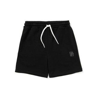 CALEE キャリー Logo print sweat short pants<Black>
