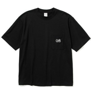 CALEE キャリー Drop shoulder pocket S/S t-shirt<Black>