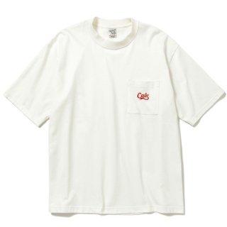 CALEE キャリー Drop shoulder pocket S/S t-shirt<White>