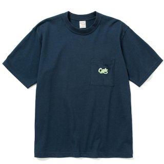 CALEE キャリー Drop shoulder pocket S/S t-shirt<Navy>
