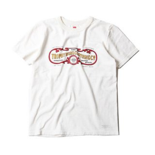 TROPHY CLOTHING トロフィークロージング 15TH WORK LOGO LW CREW TEE<WHITE><img class='new_mark_img2' src='https://img.shop-pro.jp/img/new/icons14.gif' style='border:none;display:inline;margin:0px;padding:0px;width:auto;' />