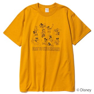 CALEE キャリー ×DISNEY/Multi player t-shirt<Mustard><img class='new_mark_img2' src='https://img.shop-pro.jp/img/new/icons14.gif' style='border:none;display:inline;margin:0px;padding:0px;width:auto;' />