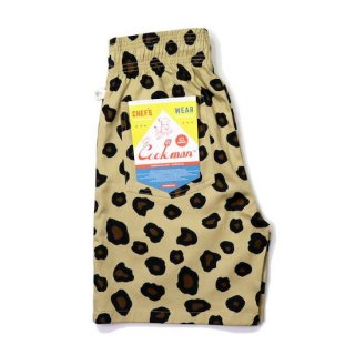 COOKMAN クックマン シェフパンツ Chef Pants Short Big Leopard<img class='new_mark_img2' src='https://img.shop-pro.jp/img/new/icons14.gif' style='border:none;display:inline;margin:0px;padding:0px;width:auto;' />
