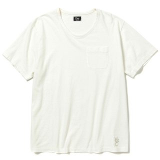 CALEE キャリー Vintage reproduct knitted fabric u neck t-shirt<White><img class='new_mark_img2' src='https://img.shop-pro.jp/img/new/icons14.gif' style='border:none;display:inline;margin:0px;padding:0px;width:auto;' />