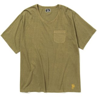 CALEE キャリー Vintage reproduct knitted fabric u neck t-shirt<Olive><img class='new_mark_img2' src='https://img.shop-pro.jp/img/new/icons14.gif' style='border:none;display:inline;margin:0px;padding:0px;width:auto;' />