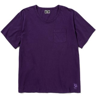 CALEE キャリー Vintage reproduct knitted fabric u neck t-shirt<Purple><img class='new_mark_img2' src='https://img.shop-pro.jp/img/new/icons14.gif' style='border:none;display:inline;margin:0px;padding:0px;width:auto;' />